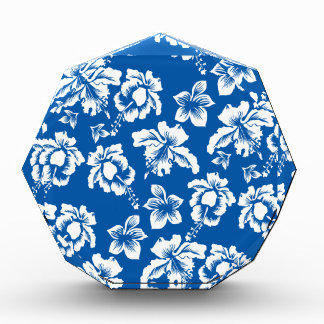 Hawiian Blue Flower Pattern Award