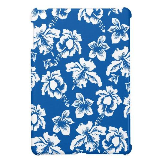 Hawiian Blue Flower Pattern Cover For The iPad Mini
