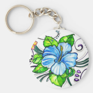 Hawiian Hibiscus Flowers Keychain