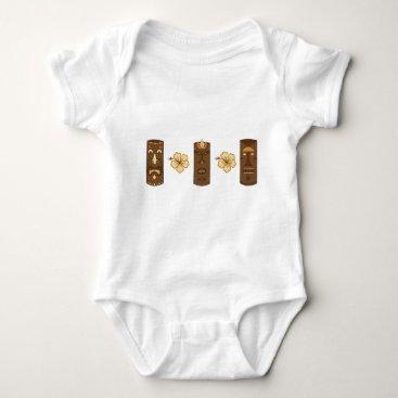 sixteenthkid Hawiian Tiki Gods Baby Bodysuit