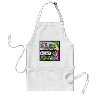 Hawiian Trump Detectives Funny Gifts & Cards Adult Apron