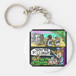Hawiian Trump Detectives Funny Gifts & Cards Keychain