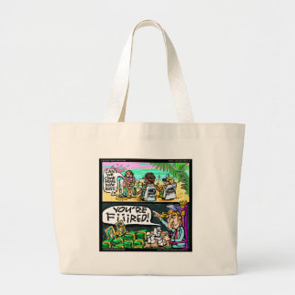 Hawiian Trump Detectives Funny Gifts & Cards Large Tote Bag