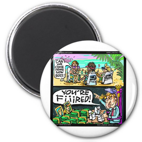 Hawiian Trump Detectives Funny Gifts & Cards Magnet