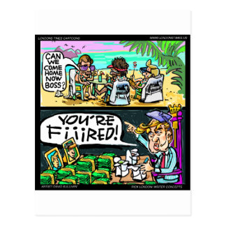 Hawiian Trump Detectives Funny Gifts & Cards Postcards