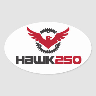Hawk 250 Logo Oval Sticker