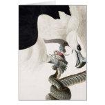 Hawk and Snake Illustration Greeting Card