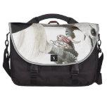 Hawk and Snake Illustration Laptop Bag