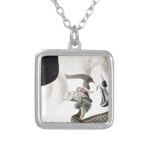 Hawk and Snake Illustration Necklace