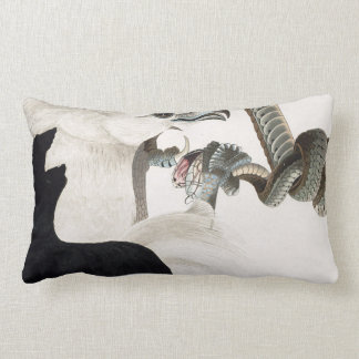 Hawk and Snake Illustration Pillows