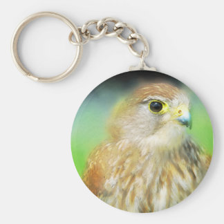Hawk as a painting keychain
