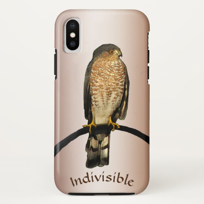Hawk Bird Indivisible Brown iPhone X Case