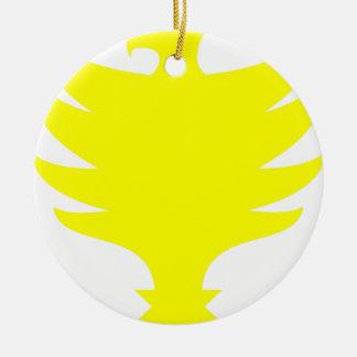 Hawk Ceramic Ornament
