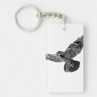 Hawk Chain Keychain