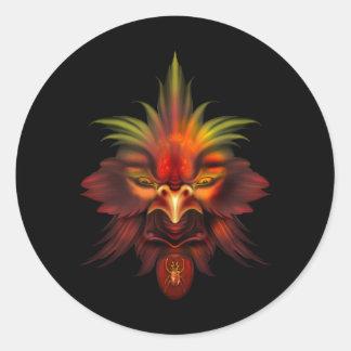 Hawk Classic Round Sticker