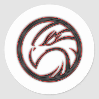 Hawk Classic Round Sticker