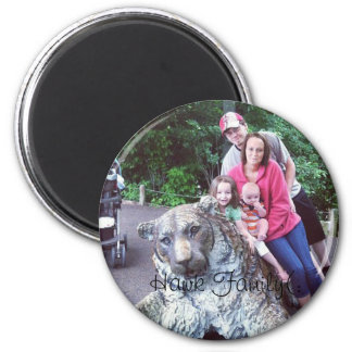Hawk Family. 2 Inch Round Magnet