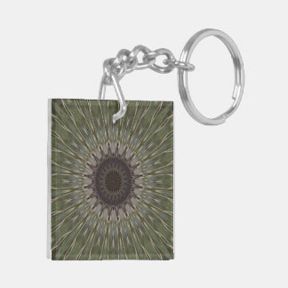 Hawk Feather Starburst Keychain
