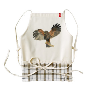 Hawk Flapping Wings Watercolor Painting Zazzle HEART Apron