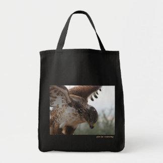 Hawk Flight Grocery Tote Bag