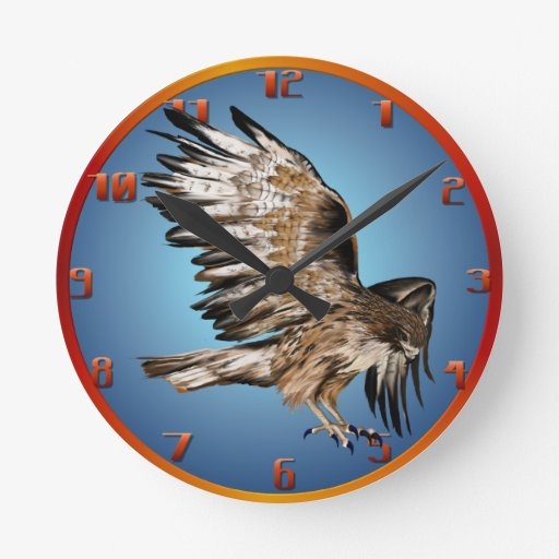 Hawk Flying Wallclock