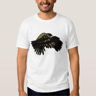 hawk-flying white shirt