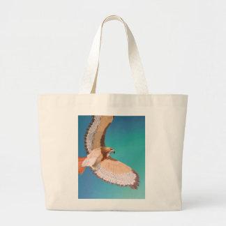 Hawk guardian large tote bag