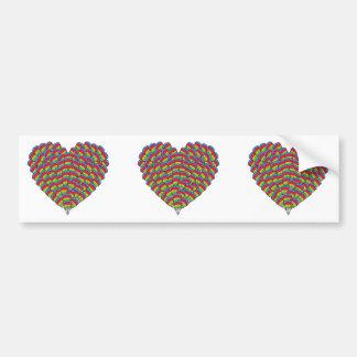 Hawk-headed Heart Bumper Sticker