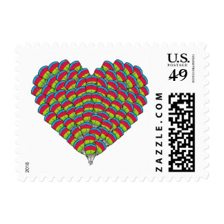 Hawk-headed Heart Postage Stamps