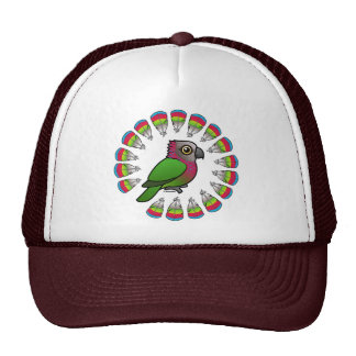 Hawk-headed Parrot Feather Circle Trucker Hat