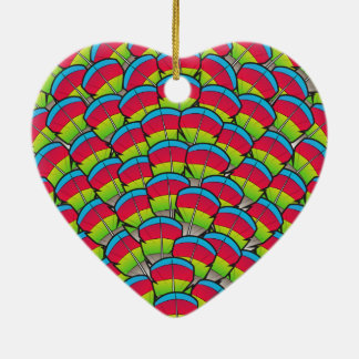 Hawk-headed Parrot Feathers Christmas Ornament