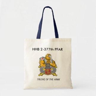 HAWK, HHB 2-377th PFAR, TALONS OF THE HAWK Tote Bag