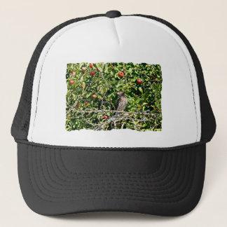 Hawk In Apple Tree Photo Trucker Hat