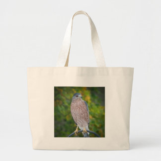 Hawk in Autumn Canvas Bags