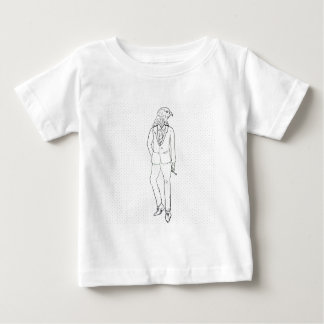 Hawk in business suit smoking drawing baby T-Shirt