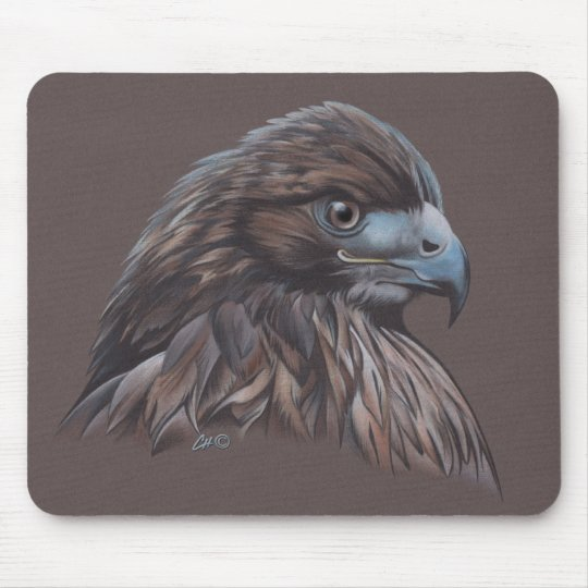 Hawk in Colored Pencil Mouse Pad
