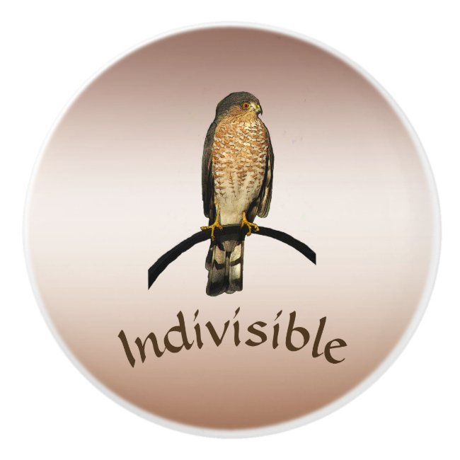 Hawk Indivisible Brown Ceramic Knob