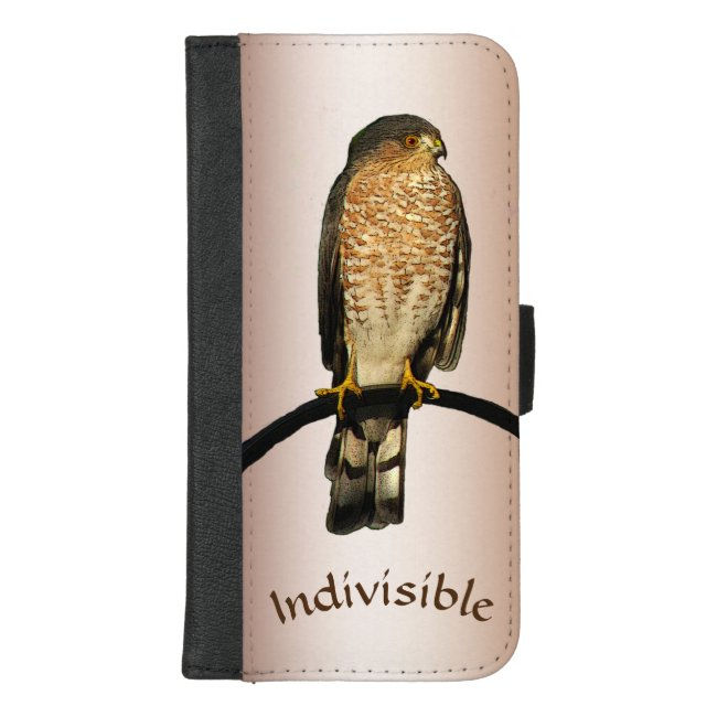 Hawk Indivisible Brown iPhone 8/7 Plus Wallet Case
