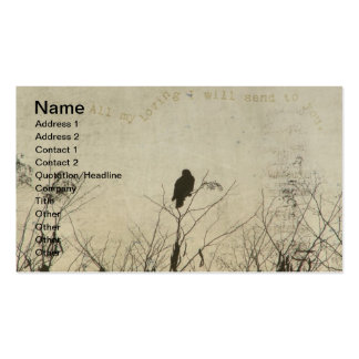 Hawk Love, Hawk in Tree Branches Digital Art Double-Sided Standard Business Cards (Pack Of 100)