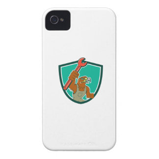 Hawk Mechanic Pipe Spanner Crest Cartoon iPhone 4 Case