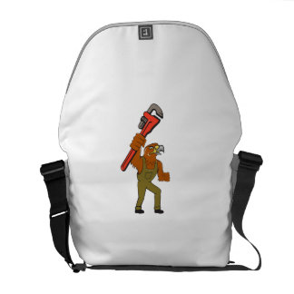 Hawk Mechanic Pipe Wrench Cartoon Courier Bag