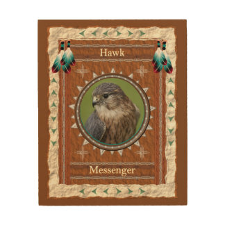 Hawk  -Messenger- Wood Canvas