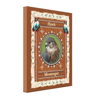 Hawk  -Messenger- Wrapped Canvas