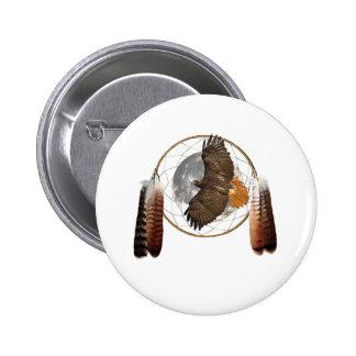Hawk Moon Pinback Button