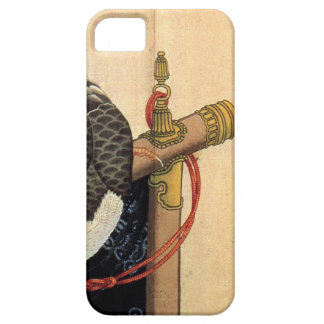 Hawk on a ceremonial stand by Katsushika Hokusai iPhone SE/5/5s Case