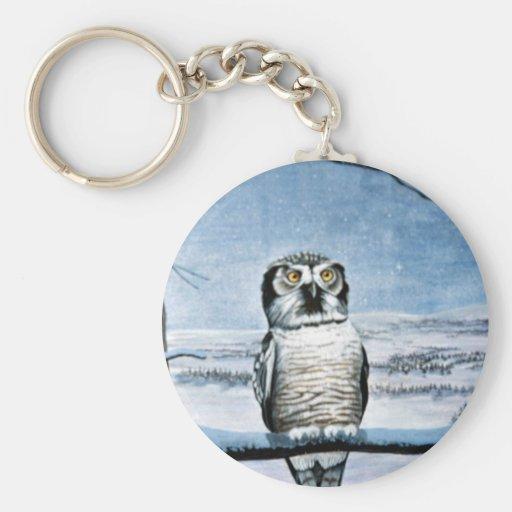 Hawk owl key chain