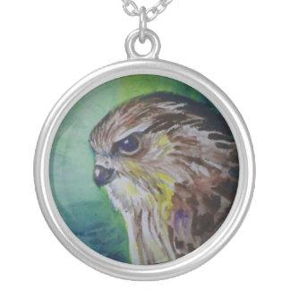Hawk Round Pendant Necklace