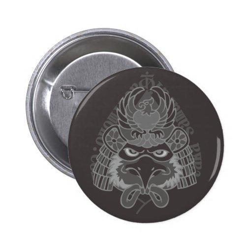 hawk Samurai 2 Inch Round Button