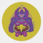 もう一つの日本アート hawk falcon samurai japan auspicious symbol 鷹 Warrior Samurai Japan Strength Symbol strength toughness POWER Symbol Mark vigour honor Japanese style Illustration Pop