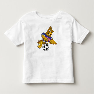 Hawk School Mascot Playing Soccer Toddler T-shirt